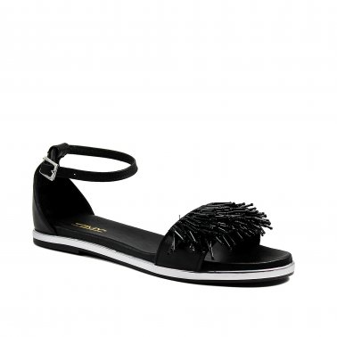 Melody Perline - Sadali in pelle nera con borchie
